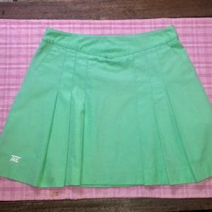 Vintage Tail brand pleated green tennis skirt USA!